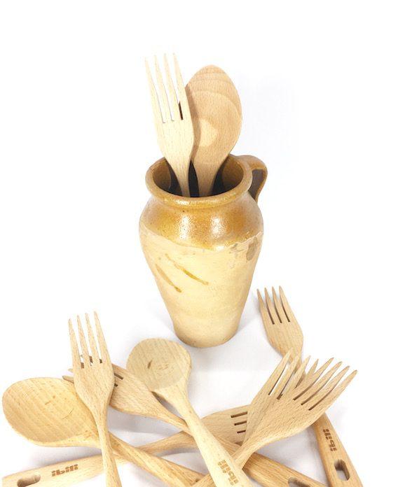 forquilla i cullera de fusta